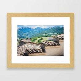 Umbrian landscapes Framed Art Print