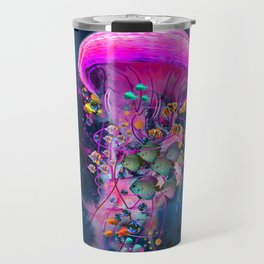 Floating Electric Jellyfish Worlds Travel Mug