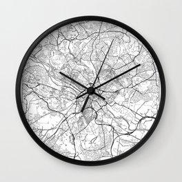 Leeds Map White Wall Clock