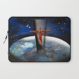 Saving the World Cross Spray Paint Laptop Sleeve