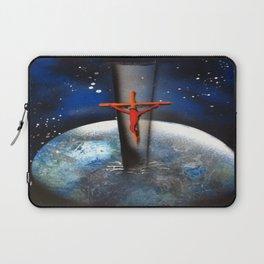 Saving the World Cross Spray Paint Laptop Sleeve