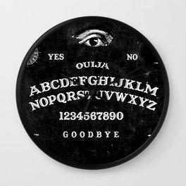 Black Ouija Wall Clock