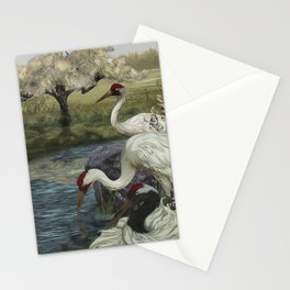 Cranes in Repose Stationery Cards