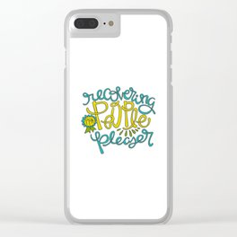 Recovering People Pleaser Clear iPhone Case