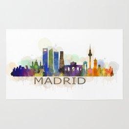 Madrid City Skyline HQ Rug
