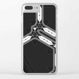 Abstract  Black and White Multi Pattern Clear iPhone Case