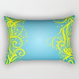Abstract blue-yellow background Rectangular Pillow