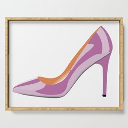Classic High heeled shoe in bodacious pink Serving Tray