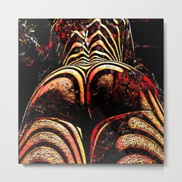 2574s-RES Abstract Nude Ass Butt Bum Tush Painting Metal Print