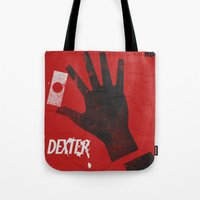 movie poster Tote Bags featuring Dexter - Alternative Movie Poster by Stefanoreves