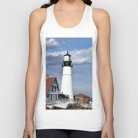 maine Tank Tops featuring Coastal Maine by Jessi Trafton