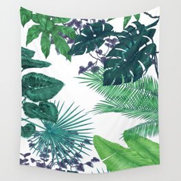 Tropical leaves II Wall Tapestry