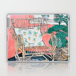 Cane Chair in Pink Interior Laptop & iPad Skin