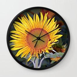 Floating SUN Wall Clock