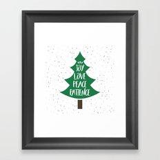 Tree of Christmas Present Framed Art Print