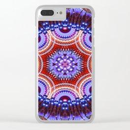 Cosmic Geometry Mandala Clear iPhone Case