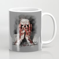 rick grimes Mugs featuring Rick Grimes from The Walking Dead by Cursed Rose