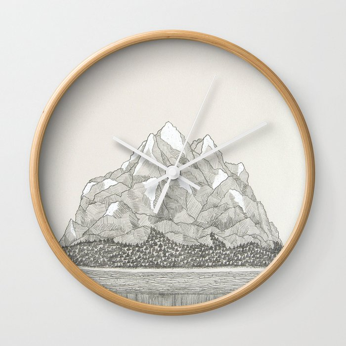 The Mountains and the Woods Wall Clock