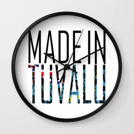 Made in Tuvalu Wall Clock