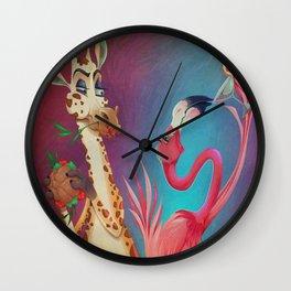 Raise a Glass in Cheer Wall Clock
