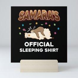 Samara Name Gift Sleeping Shirt Sleep Napping Mini Art Print