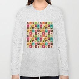 Christmas square pattern 02 Long Sleeve T-shirt