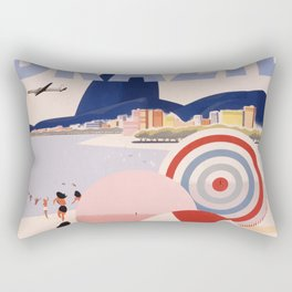 Vintage Brazil Poster Rectangular Pillow