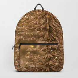 Golden Christmas Gliter Tree Decoration Backpack
