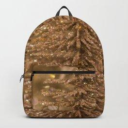 Golden Christmas Glitter Tree Decoration Backpack