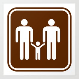 "Urban Picotgrams ""Family Men"" Art Print"