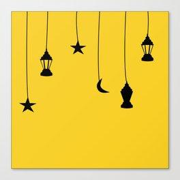 yellow falling star Canvas Print