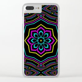 CYMK Kaleidoscope Clear iPhone Case