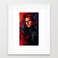 black widow Framed Art Prints featuring Black Widow by Five-Oclock