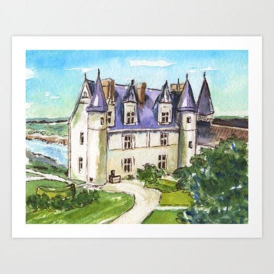 Château d'Amboise Art Print