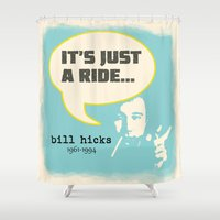 kill bill Shower Curtains featuring Bill Hicks by Patterns of Life