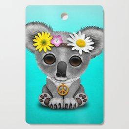 Cute Baby Koala Hippie Cutting Board