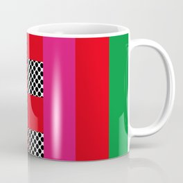 Lines and sqares, opening spaces. It seems a mouth. Coffee Mug
