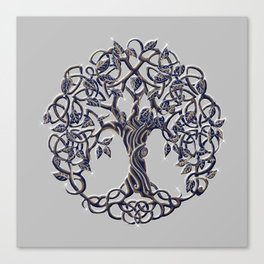 Tree of Life Silver Canvas Print