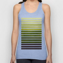 Watercolor Gouache Mid Century Modern Minimalist Colorful Olive Green Stripes Unisex Tank Top