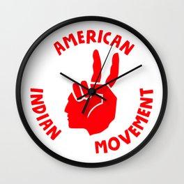 american indian movement Wall Clock