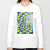 holographic Long Sleeve T-shirts featuring Radial Structure by Anya Campbell by BohemianBound