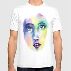 Live for Mardi Gras Mens Fitted Tee White MEDIUM