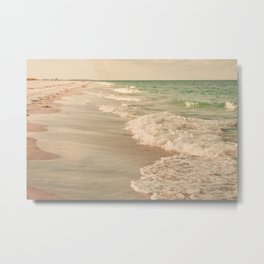 Tropical Beach Love Metal Print
