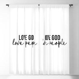 Love God Love People Blackout Curtain