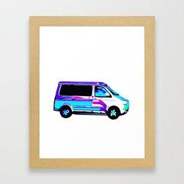 Colorful Camper Framed Art Print