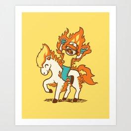 Gotta Burn 'em All !!! Art Print