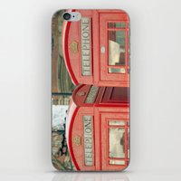 telephone iPhone & iPod Skins featuring Telephone by The Last Sparrow