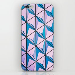 Pink Blue Geometric Triangle Pattern iPhone Skin