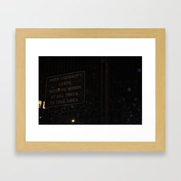 Low visibility Framed Art Print