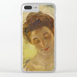 Mary Cassatt 1844 - 1926 STUDY OF MOTHER JEANNE'S HEAD, LOOKING DOWN Clear iPhone Case